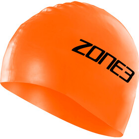 Zone3 Silicone Bonnet de natation, hi-vis orange